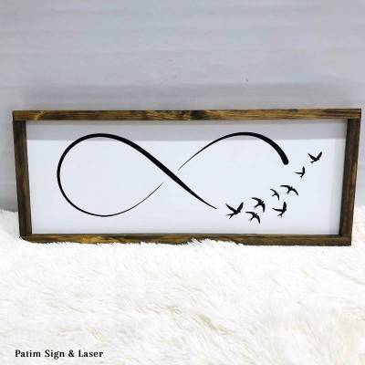 Infinity Rustic Sign (Wood)