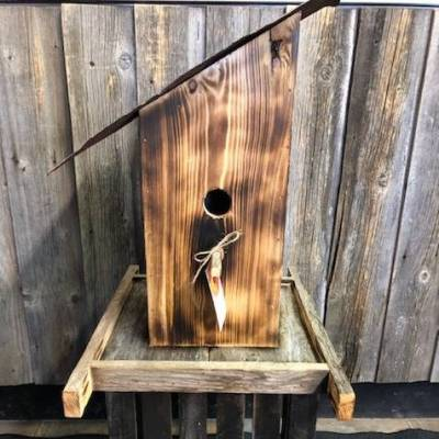 Sloped Tin Roof Birdhouse #1