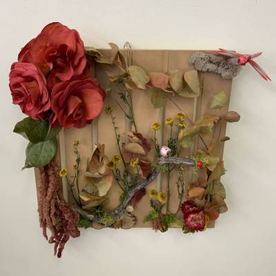 Dried Floral and Birds