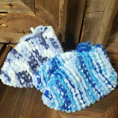Hand Knit - Boy Youth Slippers