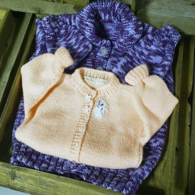 Hand Knit - Girl Toddlers Sweater 2-4yrs